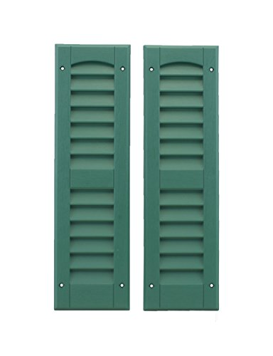 Louvered Shed or Playhouse Shutters Green 6' X 21' 1 Pair