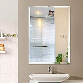 SEVEN HORSES Glass Wall Mirror (18 x 24 inch, White)