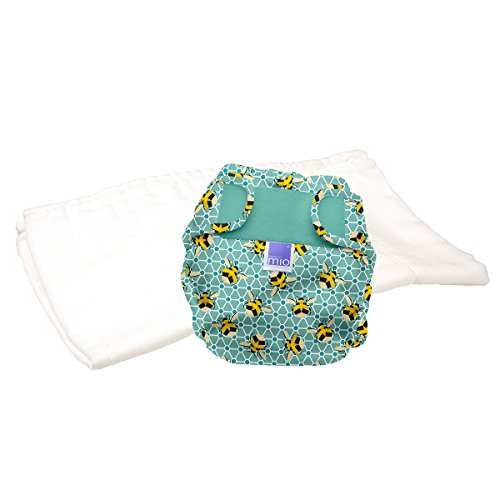 Bambino Mio, mioduo pañal reutilizable de dos piezas, abejas, talla 1 (<9 kg)