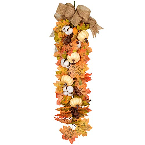 27Inch Artificial Fall Maple Swag,  Beautiful on a Wall or Door.