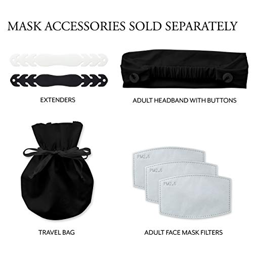 Weddingstar Masque en tissu lavable Tissu de protection réutilisable et réglable Couvercle avec poche pour filtre à poussière - orange