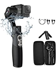 Hohem iSteady Pro 3 Gimbal Stabilizer for GoPro Hero 8, Action Cam Gimbal Compatible with DJI OSMO Action, GoPro 8/7/6/5/4/3, Sony RX0, Insta360 ONE R, SJCAM, YI-CAM, Wifi Control, Splash-Proof, 12Hrs