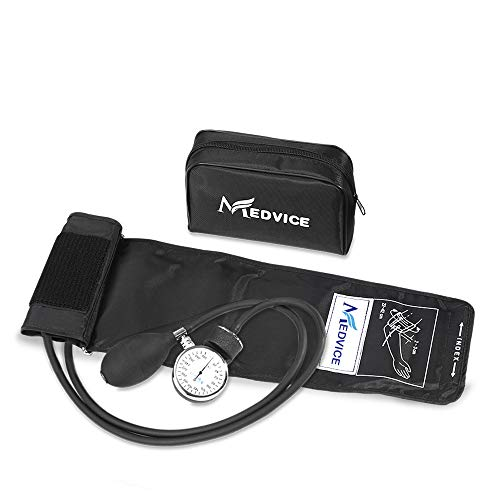 Medvice Manual Blood Pressure Cuff - Universal Size Aneroid Sphygmomanometer - Nurses BP Monitor - Best Adult BP Machine