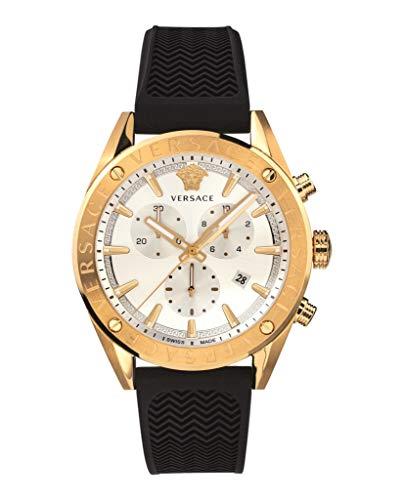 Versace V-Chrono - Reloj cronógrafo para hombre, moderno, cód. VEHB00219