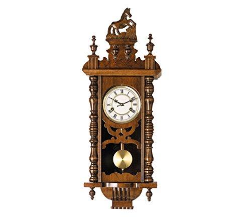 RELOJESDECO Reloj de Pared de péndulo 77cm, Reloj de péndulo, Reloj con carrillón, maquinaria Cuarzo, Precioso, péndulo Protegido Cristal.