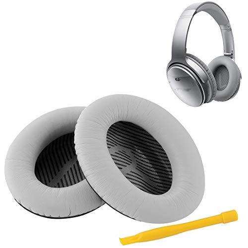 Geekria vervangende oorkussens voor Bose QC35 ii Koptelefoon Bose QuietComfort 35 Oor Kussen/Oor Bekers/Oor Cover/Reparatie Onderdelen (zilver)