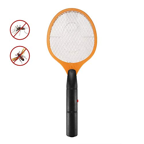 TiooDre Electric Three Layer Net Anti Mosquito Fly Repellent Bug Insect - Fly Swatter Mosquito Bug Killer Indoor Outdoor Use Battery Operated Home Pest Control, Yellow