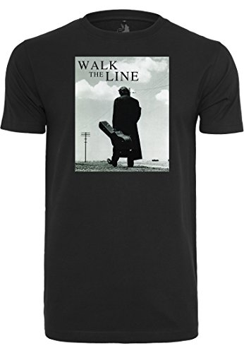 Mister Tee by Urban Classics Johnny Cash Walk The Line T-Shirt (M, Black)