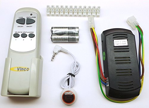 Universele afstandsbediening voor vinco plafondventilatoren, ook compatibel met andere merken.