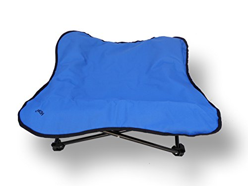 HDP Elevated Padded Napper Cot Space Saver Pet Bed...