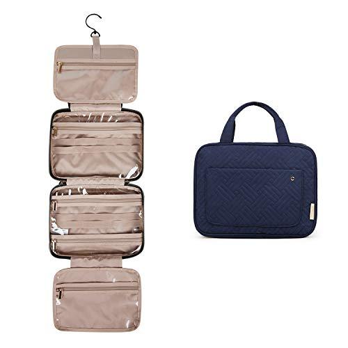 BAGSMART Kulturtasche Reise zum Aufhängen Kulturbeutel Damen für Makeup, Toilettenartikel (Blau)