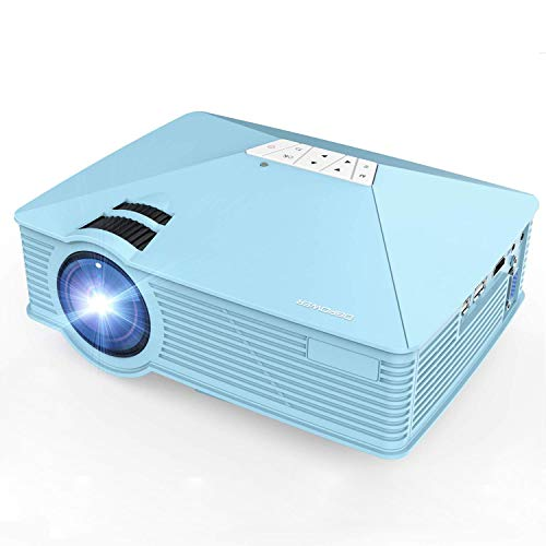 DBPOWER GP15 Mini Proyector Portatil de 1800 Lúmenes, LED V