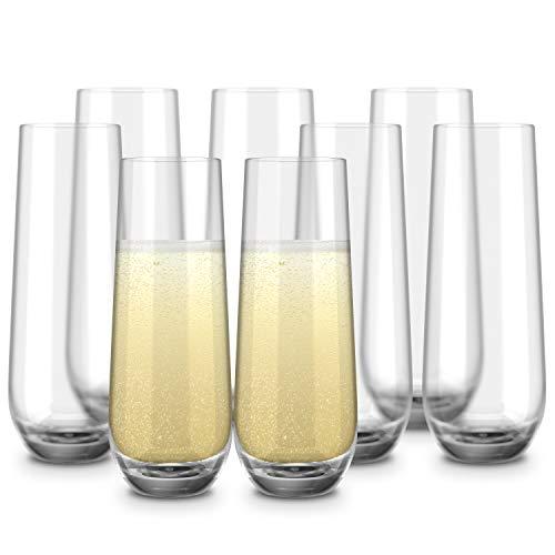 Kook Champagnerflöten ohne Stiel,...