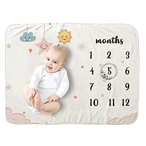 YXZN Mensual Mantas para Bebés Manta Bebé de Hitos Mensuales Decoración Manta fotografía bebé Mamas Embarazadas y Regalo Baby Shower Neutro Fondo fotográfico