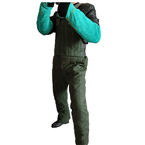 Anti-Dog Bite Jumpsuit, Training Military Dog Schutzkleidung, Training Dog Bite zur Stärkung der Sicherheitskleidung,Armygreen,L