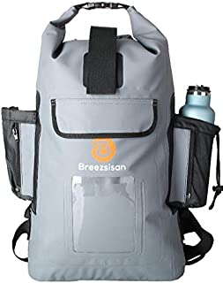 Breezsisan Dry Bag Backpack 30L,%100 Waterproof DryBag Floating-500D PVC Tarpaulin Dry Bags-Rolltop Dry Sack Backpacking for Boating, Hiking, Kayaking &Water Sports with Phone Pocket(Blue,Green,Gray)