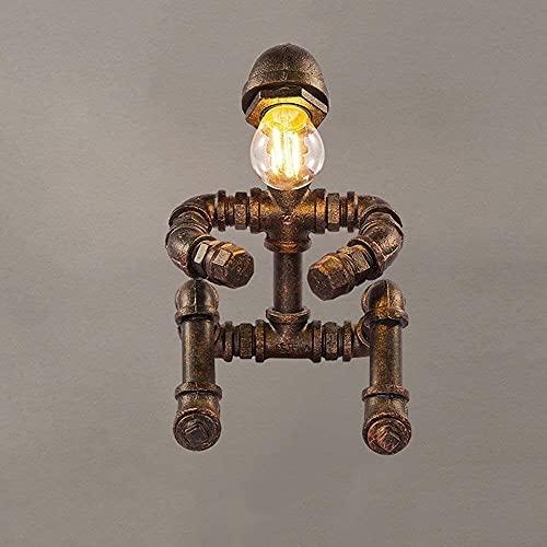 Lámpara Escritorio 17 * 25 cm Estilo Industrial Retro Steampunk Tubo de Agua lámpara de Mesa lámpara de Mesa decoración del hogar Hierro