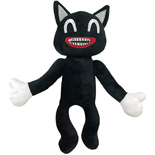 Peluches Juego De Terror Cabeza De Sirena Felpa Gato De Dibujos Animados Negro Juguete De Peluche Muñeco De Peluche Suave Juguetes 25cm