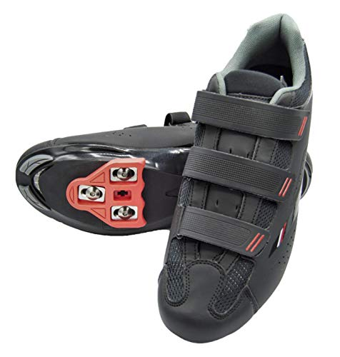 Tommaso Strada 100 Dual Cleat Compatible Indoor Cycling Class Ready Bike Shoe - Look Delta - 47 Black