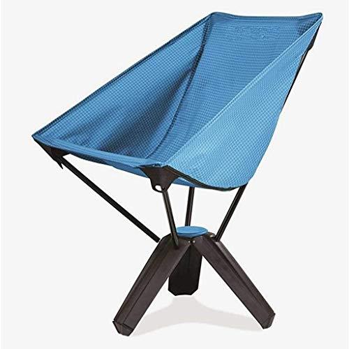 TONGTONG SHOP Outdoor-Klappstuhl, dreieckig, tragbar, Picknick, Grill, zum Aufhängen, Angeln, Strand, Mond, Grün / Blau 6.10 blau