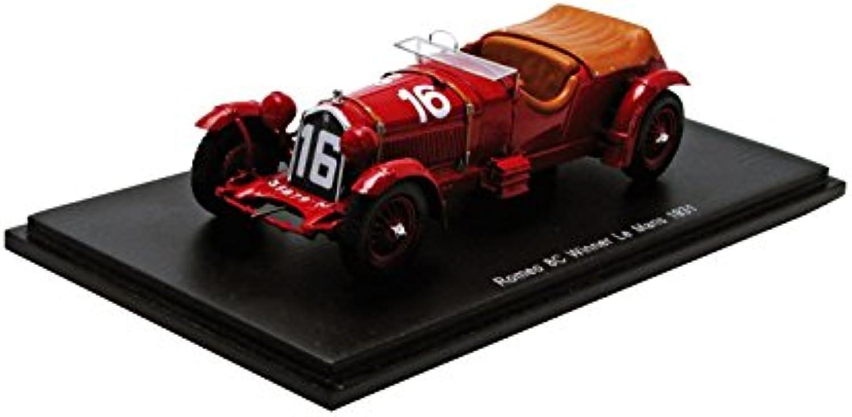 hasta un 60% de descuento Spark Alfa Romeo 8C 2300 LM     16 Le Mans Ganador 1931 - Howe   Birkin 1 43 Escala Resina coleccionistas Modelo  popular