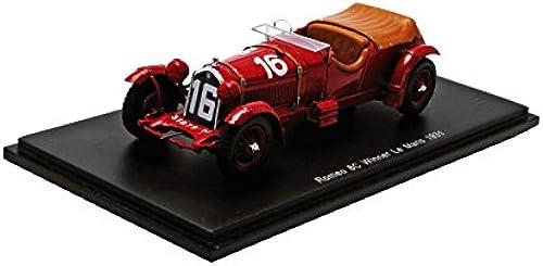 gran descuento Spark Alfa Romeo Romeo Romeo 8C 2300 LM   16 Le Mans Ganador 1931 - Howe   Birkin 1 43 Escala Resina coleccionistas Modelo  entrega rápida