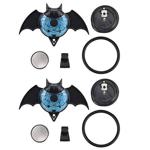 wosume Lámpara Decorativa para Scooter de Equilibrio, luz Decorativa para Bicicletas, Tipo murciélago para Ruedas integradas, Ruedas de radios, Scooter de(Bat Blue)