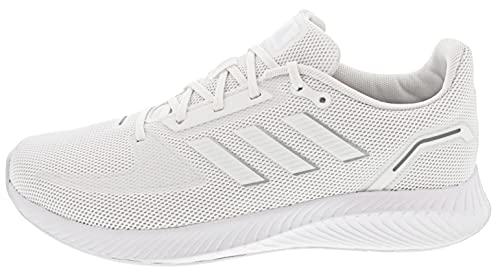 adidas Runfalcon 2.0, Road Running Shoe Hombre, Cloud White/Cloud White/Silver Metallic, 43 1/3 EU