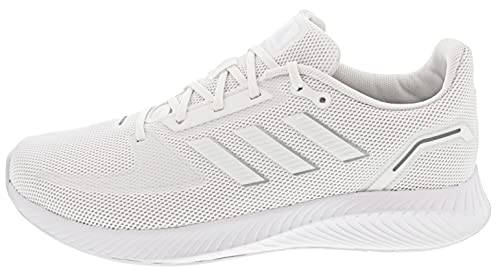 adidas Runfalcon 2.0, Road Running Shoe Hombre, Cloud White/Cloud White/Silver Metallic, 42 EU