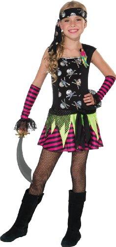 Disfraz de pirata punky para niña - Multi - Medium