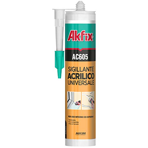 24 unidades de AKFIX Cartucho SILIC.ACRIL. AC605 B.CO 310 ml