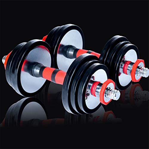 Dumbbell Set with Bar Rod Solid Pure Steel Weight Lifting Set Home Gym Barbells Dumbbell Weight Lifting Sports Training 15kg(7.5KG×2)