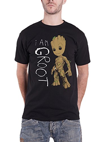 Guardians Of The Galaxy Vol 2 T Shirt I Am Groot Scribbles Official Marvel Mens Size M