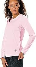 Vapor Apparel Women's Repreve UPF 50+ UV Sun Protection Long Sleeve Performance T-Shirt for Outdoor Lifestyle & Sports, Medium, Pink Blossom