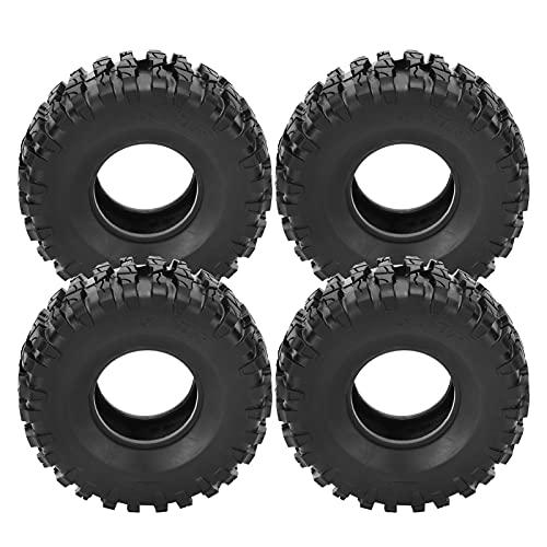 Neumáticos para orugas RC, 4 neumáticos de Goma duraderos RC para orugas SCX10 / TRX4 / TRX6 1/10 RC