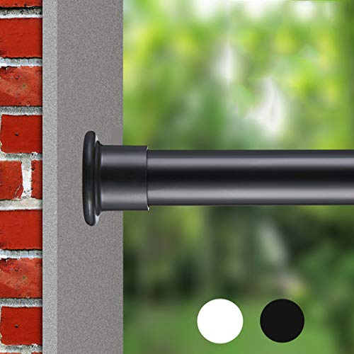 ALLZONE Room Divider Tension Curtain Rod, 83-120 inch, No Drilling, Never Bend, Never Collapse, Very Secure, Rust Free, Black
