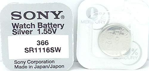 Batteria per orologio Sony 365 SR1116SW, ossido d' argento 0% mercurio