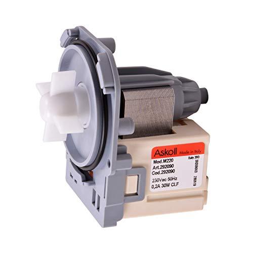Bomba de desagüe para motor de bomba con tecnología magnética como AEG 132069901/8 Askoll para lavadora y lavavajillas