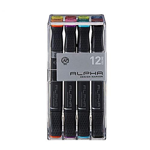 Alpha Design Marker 12er Set Basic Main Colours