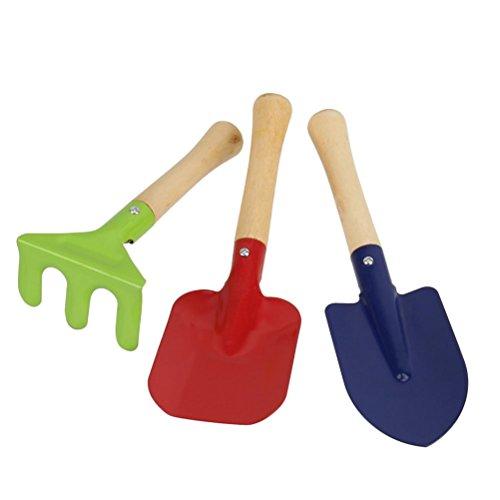 WINOMO Bac à sable toy jardin outils 3pcs Garden Tools Set râteau pelle Kids Beach Sandbox jouet enfant