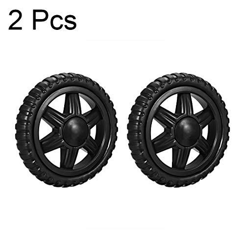 JIALUN ZFX-QIDONGLUN, 2Pcs Shopping Cart Wheels 5 Inch Dia Travelling Trolley Caster Replacement Rubber Foaming Black