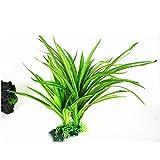 Accob Künstliche Pflanzen Aquarienpflanzen Wasserpflanzen Ornamente Grüne Plastikpflanzen für Aquarien