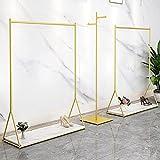 Riel de ropa resistente, estante de exhibición de ropa, estante de riel independiente, soporte de carga fuerte/gran capacidad/desmontable/con partición/dorado / 120 * 40 * 160cm
