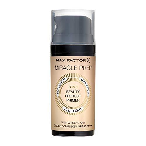 Max Factor Miracle Prep 3in1 Beauty Protect Primer, mit LSF und schützt vor UVA/UVB Strahlen, 32 g