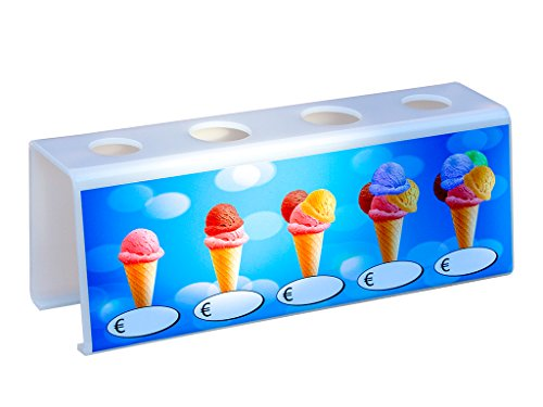 Eistütenhalter Eiswaffelhalter Eistütenständer Eiswaffelständer mit Preistafel