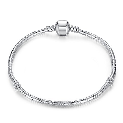 Presentski Bracelet Charm Bracelet Serpent Chaîne pour Fille Femme Anniversaire 18 20cm / 7.08 7.88 inch
