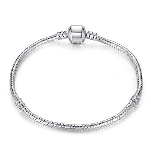 Presentski Fashion Silver Plated Snake Chain For Charm Bracelet
