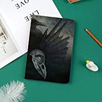 おしゃれな新しい ipad pro 11 2018 ケース 傷つけ防止 二つ折 開閉式 防衝撃デザイン 超軽量&超薄型 全面保護型 (iPad Pro11 インチ)カラスの精神の翼悲惨な魔法の神秘主義ダークシャドーオカルトアートプリント装飾