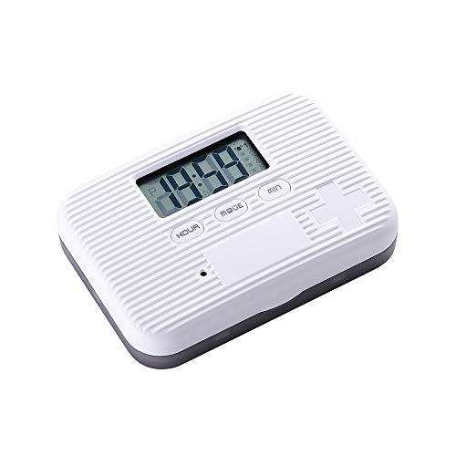 LUCKYGBY Automatischer Elektronischer Tablettenspender Mit Alarmanzeige, Zeitschaltuhr Für Wecker Mit 6 Fächern, Aufbewahrungsbox Für Pillen, Tragbare Digital Reise-Pillendose
