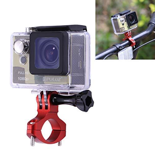 Moonbaby Nuevo Adaptador for Manillar de Bicicleta Soporte de Aluminio for GoPro Nuevo Hero / HERO7 / 6/5/5 Sesión / 4 Sesión / 4/3 + / 3/2/1, dji New Action, Xiaoyi y Otras cámaras de acción (Negro)